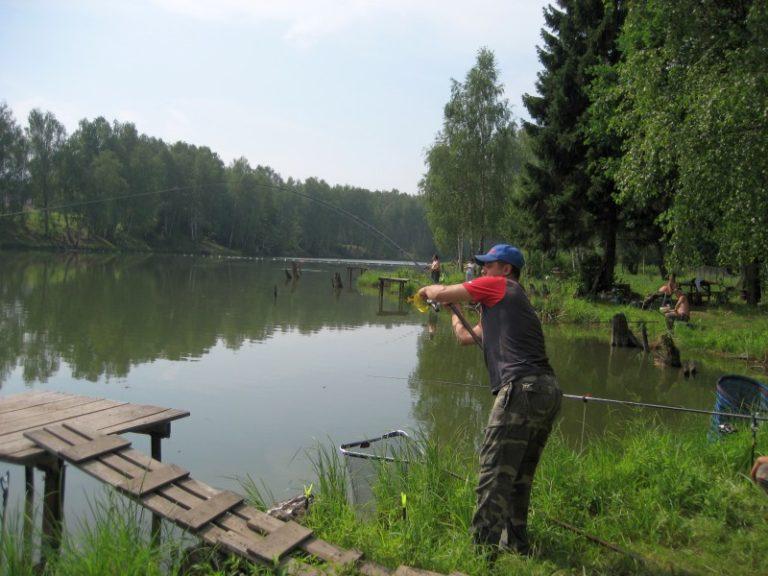 Рыбалка в диком месте подмосковья