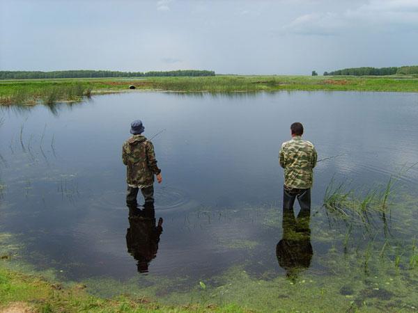 Два рыбака в воде