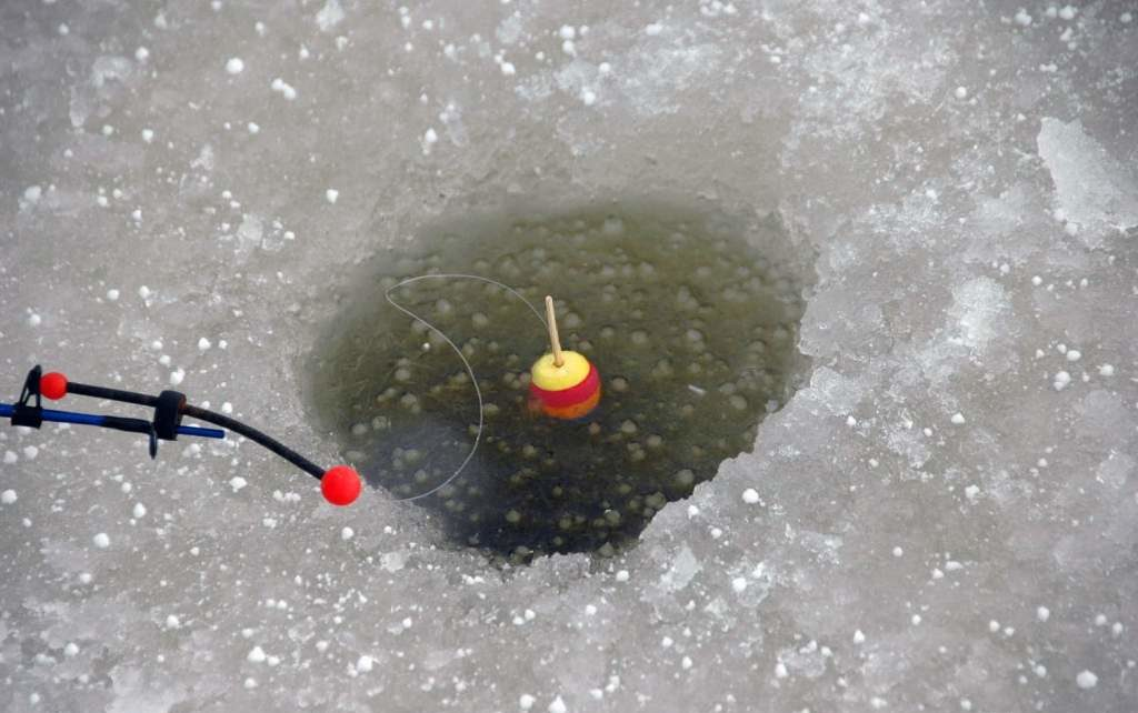 Зимняя поплавковая удочк