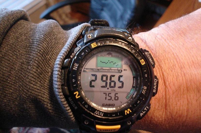 Часы измеряющие атмосферное давление