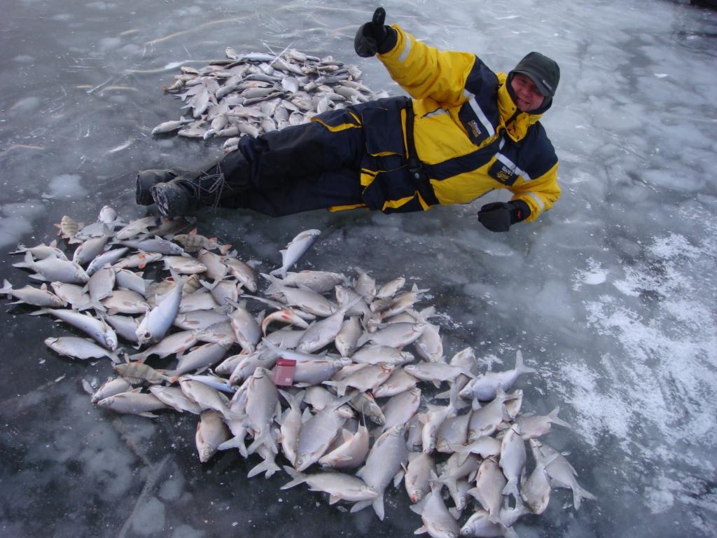 Мужик с кучей рыбы