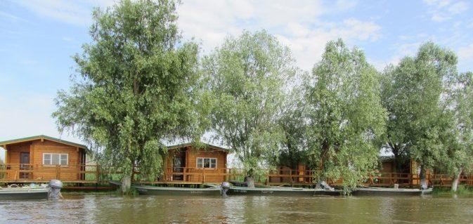 Домики на берегу водоёма