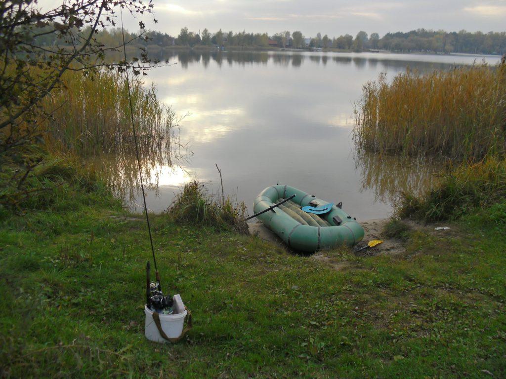 рыбалка летом на озере круглое