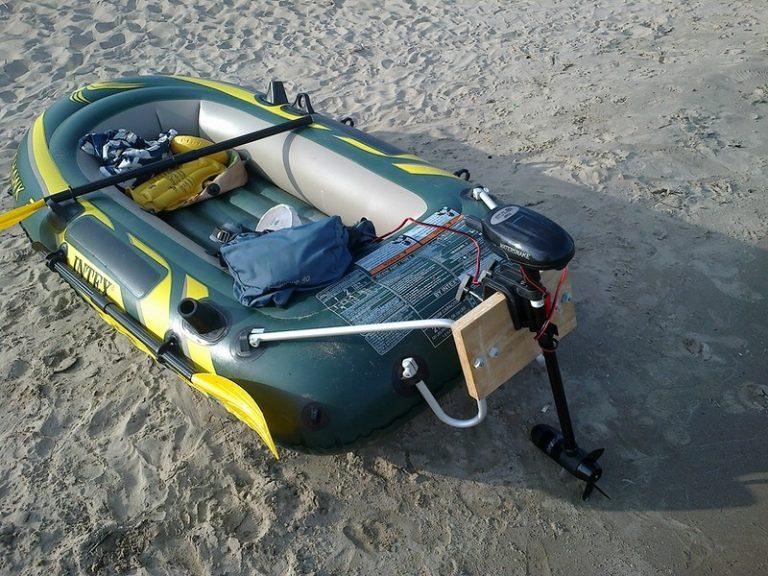 Электродвигатель на резиновую лодку видео