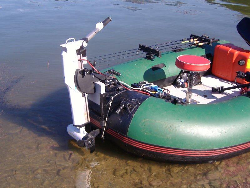 Надувная лодка с электродвигателем
