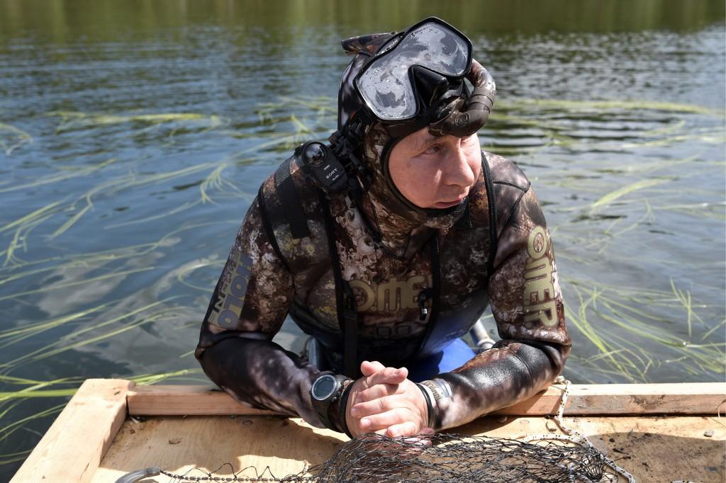 Путин В. В. на рыбалке