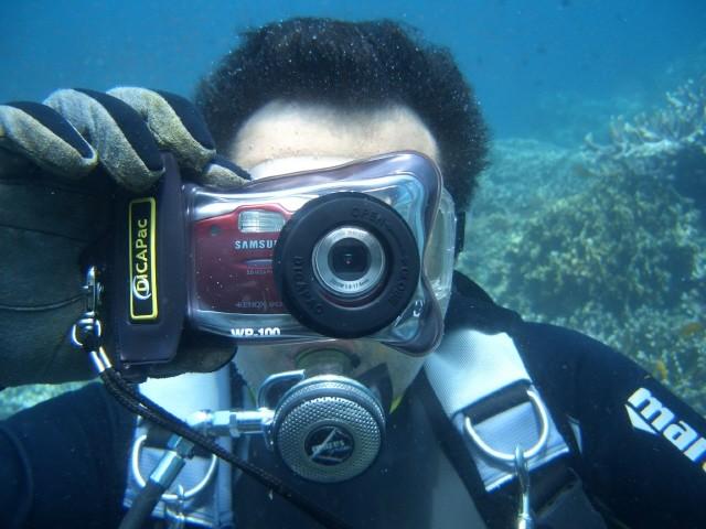 Дайвер с фотопоратом