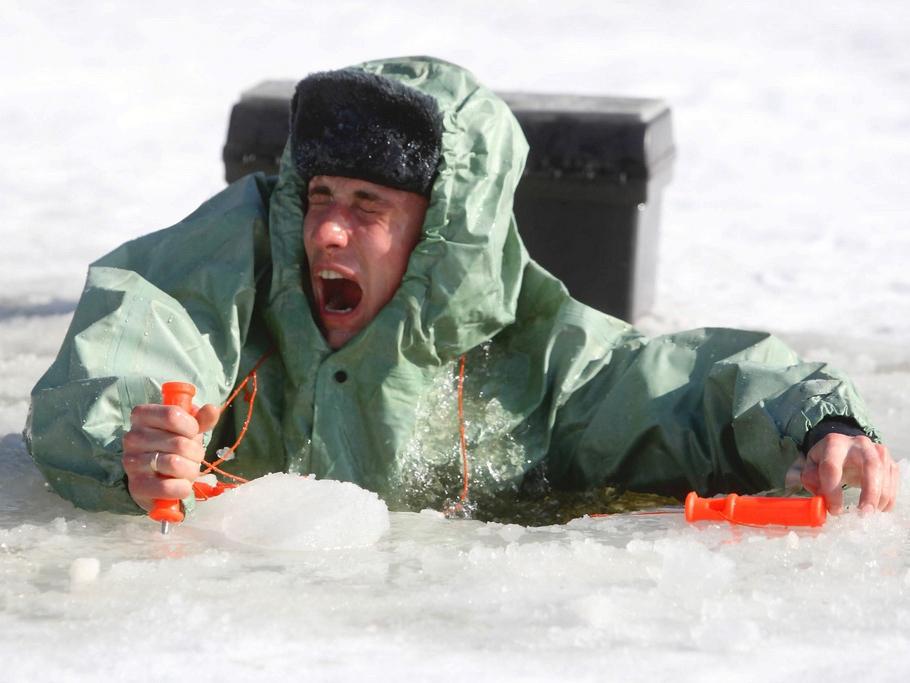 Шок при попадании в леденею воду