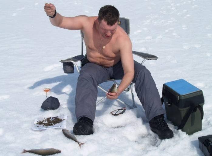Суровый Сибирский рыбак