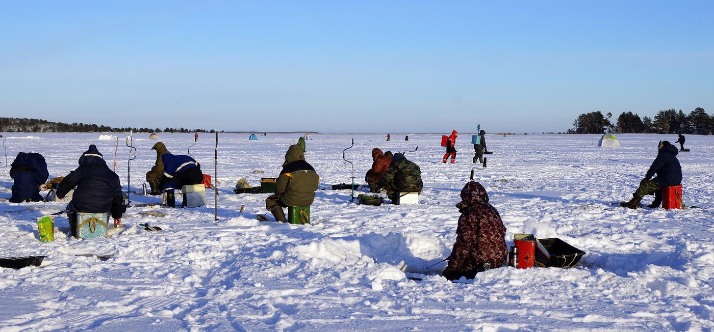 Суровые Самарские рыбаки