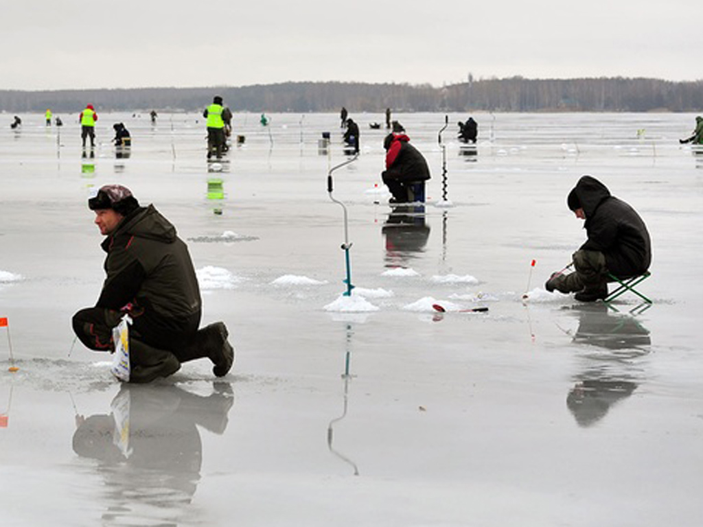 Рыбаки на зимней рыбалки