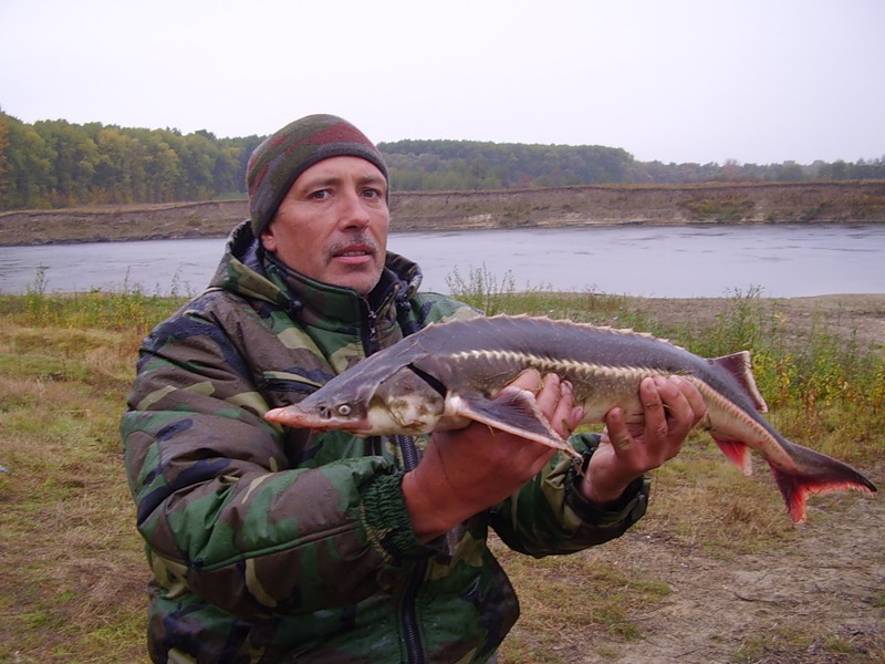 Мужик с рыбкой в руках