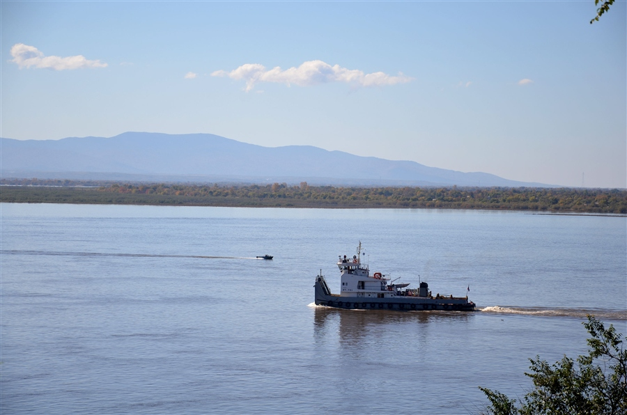 Пароход на реке Аргунь
