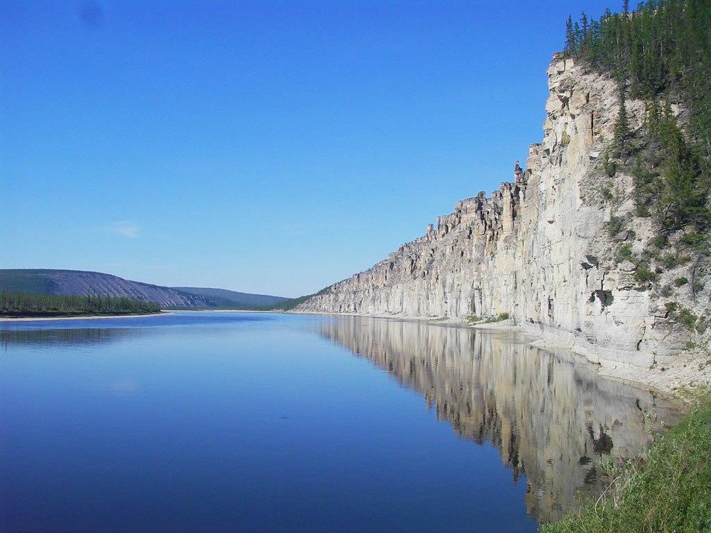 Природа реки  Оленек
