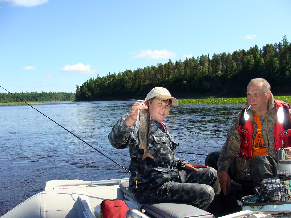 Дет с внуком на рыбалки