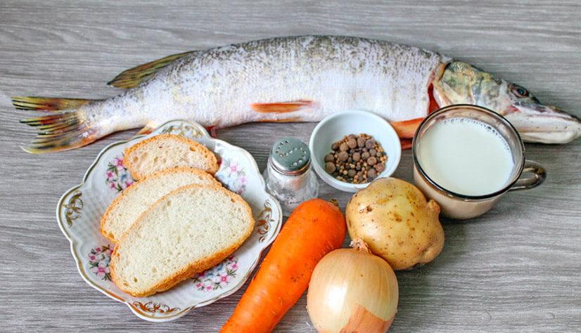 Рыба и ингредиенты