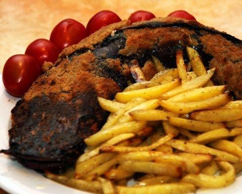 Рыба с картошкой фри